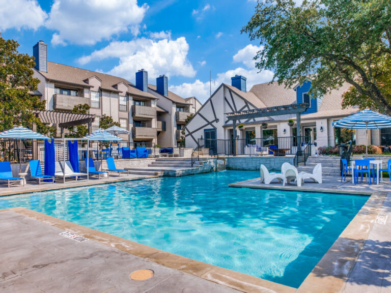 New renovated main pool at apartments on North Gate in Irving, TX